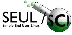 SEUL/sci Logo: a green flask containing bubbles and the 'sci' in SEUL/sci
